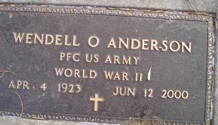 ANDERSON, WENDELL O (MIL) - Hamlin County, South Dakota | WENDELL O (MIL) ANDERSON - South Dakota Gravestone Photos