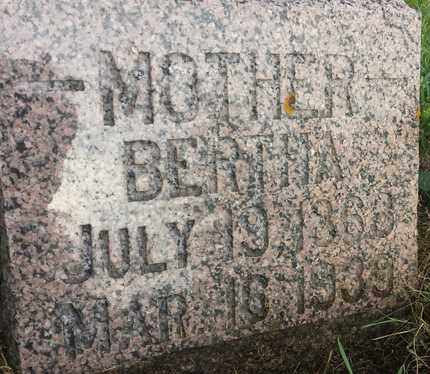 ANDREWS, BERTHA - Hamlin County, South Dakota | BERTHA ANDREWS - South Dakota Gravestone Photos