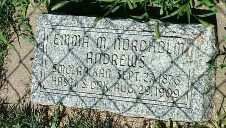 ANDREWS, EMMA M - Hamlin County, South Dakota   EMMA M ANDREWS - South Dakota Gravestone Photos