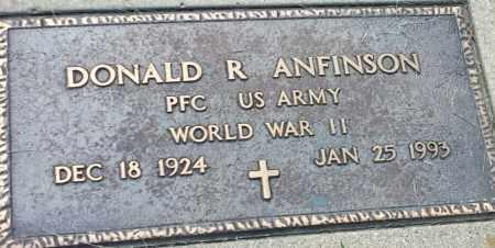 "ANFINSON, DONALD R ""MILITARY"" - Hamlin County, South Dakota | DONALD R ""MILITARY"" ANFINSON - South Dakota Gravestone Photos"