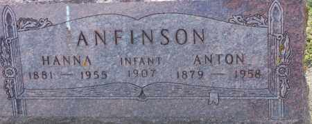 ANFINSON, ANTON - Hamlin County, South Dakota | ANTON ANFINSON - South Dakota Gravestone Photos