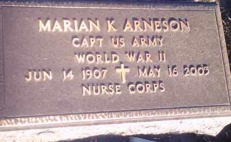 ARNESON, MARION K (MILITARY) - Hamlin County, South Dakota | MARION K (MILITARY) ARNESON - South Dakota Gravestone Photos