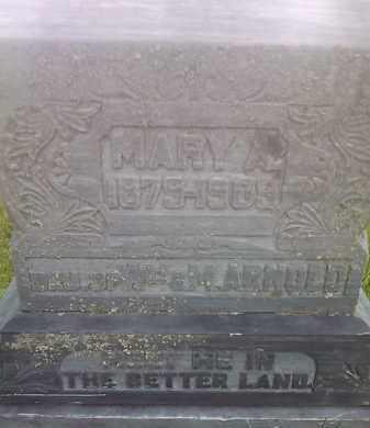 ARNOLD, MARY A - Hamlin County, South Dakota   MARY A ARNOLD - South Dakota Gravestone Photos