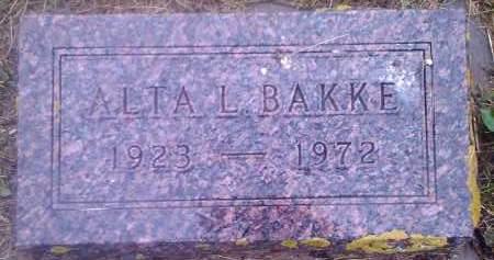 BAKKE, ALTA L - Hamlin County, South Dakota   ALTA L BAKKE - South Dakota Gravestone Photos
