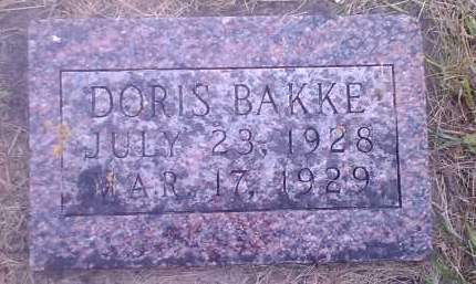 BAKKE, DORIS - Hamlin County, South Dakota | DORIS BAKKE - South Dakota Gravestone Photos