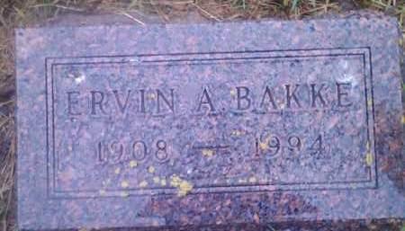 BAKKE, ERVIN A - Hamlin County, South Dakota | ERVIN A BAKKE - South Dakota Gravestone Photos