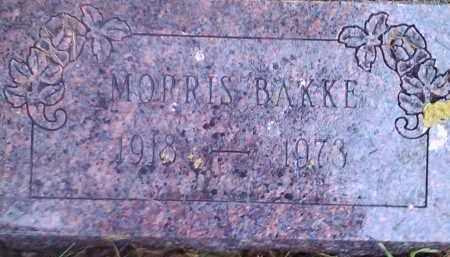 BAKKE, MORRIS - Hamlin County, South Dakota | MORRIS BAKKE - South Dakota Gravestone Photos