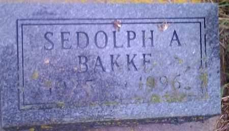 BAKKE, SEDOLPH A - Hamlin County, South Dakota | SEDOLPH A BAKKE - South Dakota Gravestone Photos