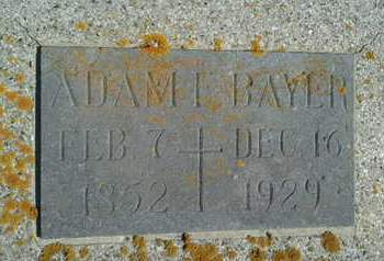 BAYER, ADAM F - Hamlin County, South Dakota | ADAM F BAYER - South Dakota Gravestone Photos