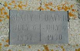 BAYER, MARY J - Hamlin County, South Dakota | MARY J BAYER - South Dakota Gravestone Photos
