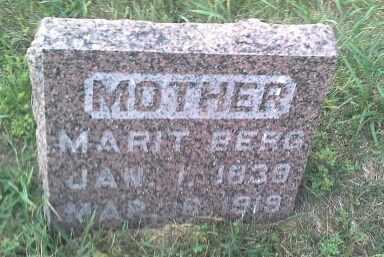 BERG, MARIT - Hamlin County, South Dakota | MARIT BERG - South Dakota Gravestone Photos
