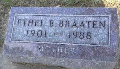 BRAATEN, ETHEL B - Hamlin County, South Dakota | ETHEL B BRAATEN - South Dakota Gravestone Photos