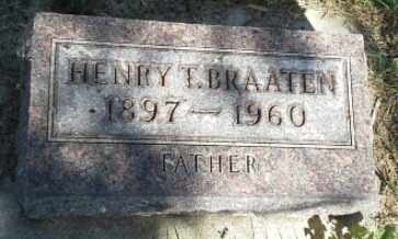 BRAATEN, HENRY T - Hamlin County, South Dakota | HENRY T BRAATEN - South Dakota Gravestone Photos