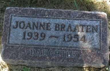 BRAATEN, JOANNE - Hamlin County, South Dakota | JOANNE BRAATEN - South Dakota Gravestone Photos