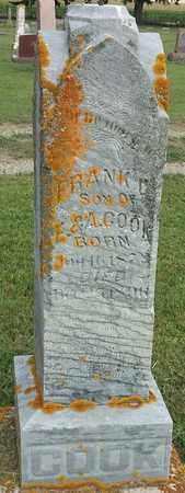 COOK, FRANK D - Hamlin County, South Dakota   FRANK D COOK - South Dakota Gravestone Photos