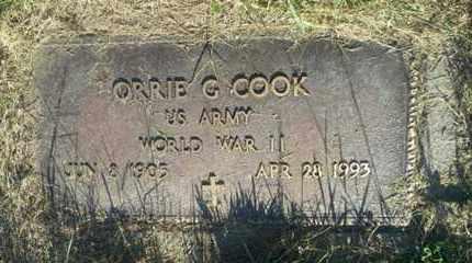 "COOK, ORRIE G ""MILITARY"" - Hamlin County, South Dakota   ORRIE G ""MILITARY"" COOK - South Dakota Gravestone Photos"