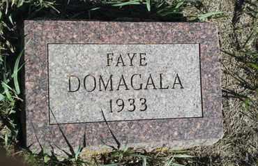 DOMAGALA, FAYE - Hamlin County, South Dakota | FAYE DOMAGALA - South Dakota Gravestone Photos