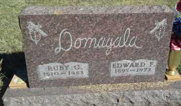 DOMAGALA, EDWARD F - Hamlin County, South Dakota | EDWARD F DOMAGALA - South Dakota Gravestone Photos