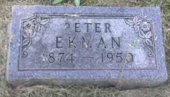 ECKMAN, PETER - Hamlin County, South Dakota   PETER ECKMAN - South Dakota Gravestone Photos