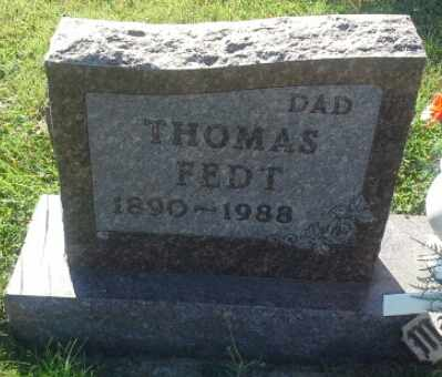 FEDT, THOMAS - Hamlin County, South Dakota | THOMAS FEDT - South Dakota Gravestone Photos
