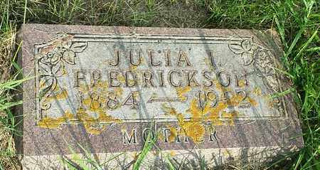 FREDRICKSON, JULIA - Hamlin County, South Dakota | JULIA FREDRICKSON - South Dakota Gravestone Photos