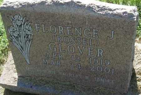 ROSSEL GLOVER, FLORENCE J - Hamlin County, South Dakota | FLORENCE J ROSSEL GLOVER - South Dakota Gravestone Photos