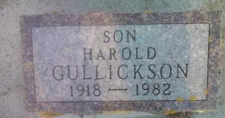 GULLICKSON, HAROLD - Hamlin County, South Dakota | HAROLD GULLICKSON - South Dakota Gravestone Photos