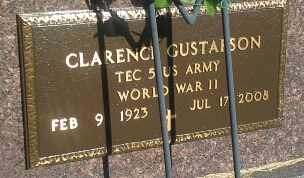 "GUSTAFSON, CLARENCE ""MILITARY"" - Hamlin County, South Dakota 