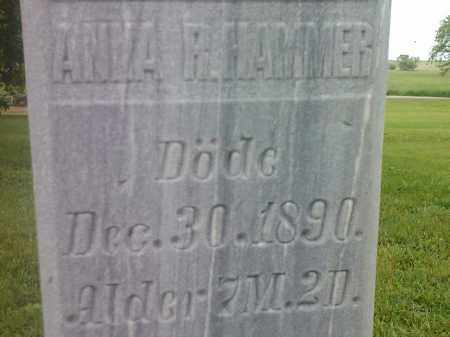 HAMMER, ANNA - Hamlin County, South Dakota | ANNA HAMMER - South Dakota Gravestone Photos