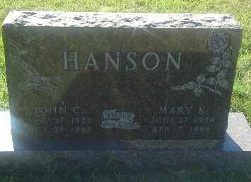 HANSON, MARY K - Hamlin County, South Dakota | MARY K HANSON - South Dakota Gravestone Photos