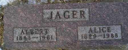 JAGER, ALICE - Hamlin County, South Dakota | ALICE JAGER - South Dakota Gravestone Photos