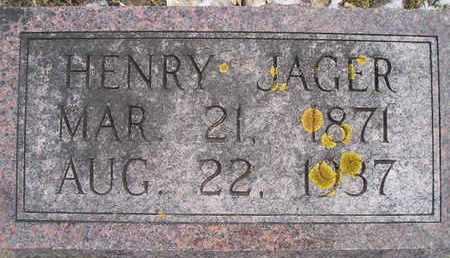 JAGER, HENRY - Hamlin County, South Dakota | HENRY JAGER - South Dakota Gravestone Photos