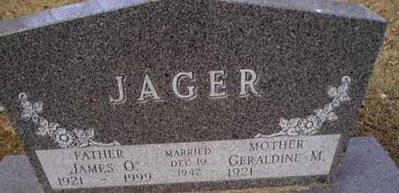 JAGER, JAMES O - Hamlin County, South Dakota | JAMES O JAGER - South Dakota Gravestone Photos