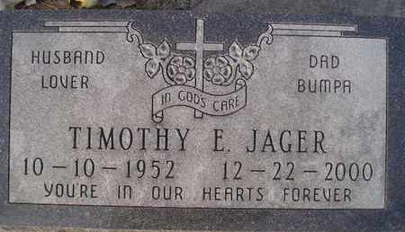 JAGER, TIMOTHY E - Hamlin County, South Dakota   TIMOTHY E JAGER - South Dakota Gravestone Photos