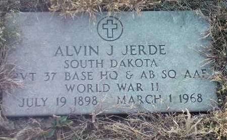 JERDE, ALVIN J (MILIARY) - Hamlin County, South Dakota | ALVIN J (MILIARY) JERDE - South Dakota Gravestone Photos