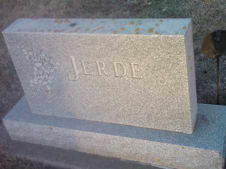 JERDE, FAMILY STONE - Hamlin County, South Dakota | FAMILY STONE JERDE - South Dakota Gravestone Photos