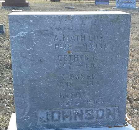 JOHNSON, G OSCAR - Hamlin County, South Dakota | G OSCAR JOHNSON - South Dakota Gravestone Photos