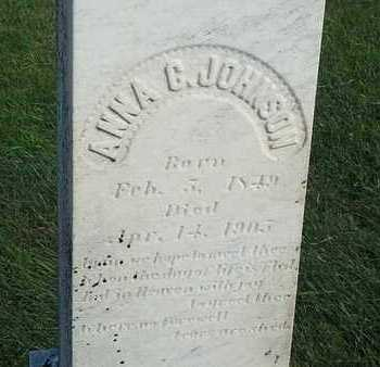 JOHNSON, ANNA - Hamlin County, South Dakota   ANNA JOHNSON - South Dakota Gravestone Photos