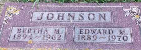 JOHNSON, BERTHA M - Hamlin County, South Dakota | BERTHA M JOHNSON - South Dakota Gravestone Photos