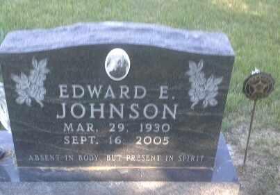 JOHNSON, EDWARD E - Hamlin County, South Dakota | EDWARD E JOHNSON - South Dakota Gravestone Photos