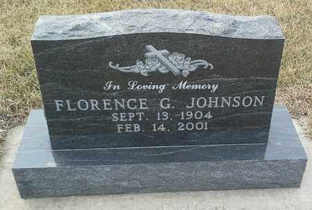JOHNSON, FLORENCE G - Hamlin County, South Dakota | FLORENCE G JOHNSON - South Dakota Gravestone Photos