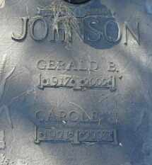 JOHNSON, CAROLE J - Hamlin County, South Dakota | CAROLE J JOHNSON - South Dakota Gravestone Photos