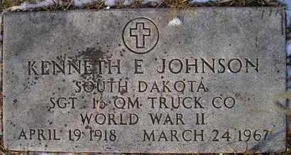 JOHNSON, KENNETH E (MIL) - Hamlin County, South Dakota | KENNETH E (MIL) JOHNSON - South Dakota Gravestone Photos