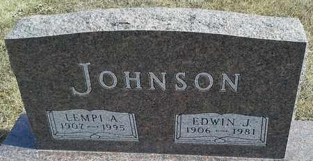 JOHNSON, EDWIN J - Hamlin County, South Dakota | EDWIN J JOHNSON - South Dakota Gravestone Photos