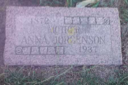 JORGENSON, ANNA - Hamlin County, South Dakota | ANNA JORGENSON - South Dakota Gravestone Photos