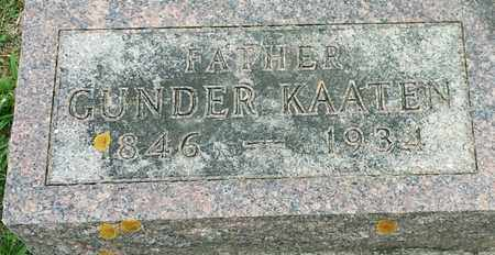 KAATEN, GUNDER - Hamlin County, South Dakota | GUNDER KAATEN - South Dakota Gravestone Photos