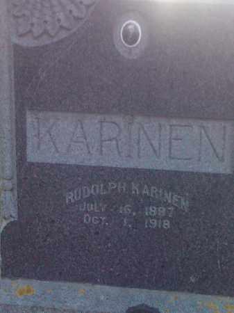 KARINEN, RUDOLPH - Hamlin County, South Dakota | RUDOLPH KARINEN - South Dakota Gravestone Photos