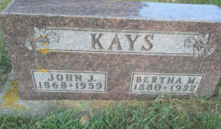 KAYS, JOHN J - Hamlin County, South Dakota   JOHN J KAYS - South Dakota Gravestone Photos