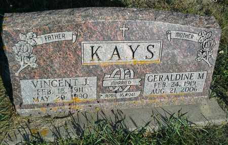 KAYS, VINCENT J - Hamlin County, South Dakota | VINCENT J KAYS - South Dakota Gravestone Photos