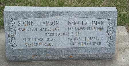 KIDMAN, SIGNE L - Hamlin County, South Dakota | SIGNE L KIDMAN - South Dakota Gravestone Photos